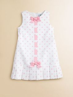 Florence Eiseman Toddlers & Little Girls Pique Pleated Polka Dot Dress $92.00 thestylecure.com