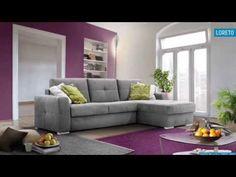 Loreto kanapé, ülőgarnitúra | kanape-shop.hu - YouTube Sofa, Couch, Modern, Furniture, Youtube, Home Decor, Loreto, Elegant, Settee