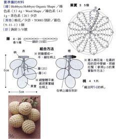 Crochet Leaf Patterns, Crochet Chart, Yarn Flowers, Crochet Flowers, Crochet Fruit, Crochet Food, Crochet Brooch, Crochet Beanie, Crochet Accessories