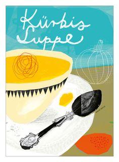 Kürbis Suppe - Design: Mareike Engelke, www.mareikeengelke.de