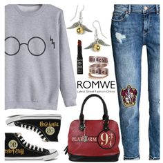 A fashion look from November 2016 by deborah-calton featuring H&M, NYX, Converse, harrypotter i romwe