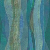 sandstone-blue-vert custom fabric by wren_leyland for sale on Spoonflower Landscape Fabric, Abstract Landscape, Turquoise, Teal, Blue, Surface Design, Custom Fabric, Spoonflower, Wren