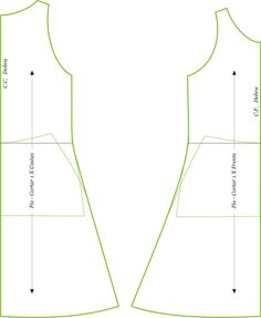 MIB - Modelagem Industrial Brasileira: Vestido Trapézio Tipo Regata Sewing Hacks, Sewing Crafts, Sewing Projects, Sewing Clothes Women, Diy Clothes, Diy Fashion, Fashion Design, Origami Easy, Dress Sewing Patterns