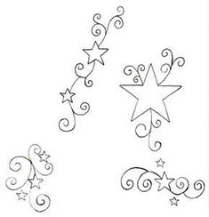 Stars And Vines  Free Download Tattoo 25592 With