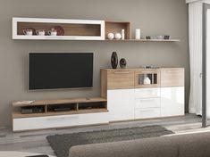Elegant, Contemporary, and Creative TV Wall Design Ideas Living Room Sets, Living Room Furniture, Living Room Decor, Dresser With Tv, Tv Stand Set, Modern Tv Units, Tv Wall Design, Amazing Decor, Camilla
