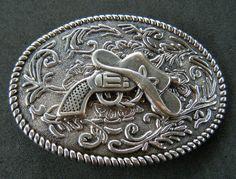 Western Guns Hats Colt Cowboy Cowgirl Rodeo Belt Buckle Belts Buckles