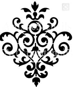 damask clip art 2 graphic design pattern clipart for your art rh pinterest com gold damask clipart damask clipart free