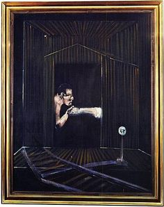 TITLE: The End of the Line ARTIST: Francis Bacon (Irish, 1909–1992) WORK DATE: 1953 PERIOD: 20th century CATEGORY: Paintings MATERIALS: Oil on canvas SIZE: h: 60 x w: 46 in / h: 152.4 x w: 116.8 cm