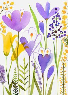 Margaret Berg Art: Crocus Garden