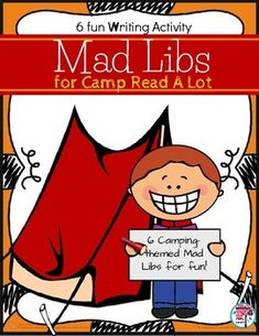 Camp Read A Lot themed Mad Libs - End of Year Writing Activity. Everyone loves Mad Libs writing activities, so keep the fun going with this writing activity - Mad Libs style! Fun Writing Activities, Camping Activities, Camping Games, Camping Gear, Outdoor Activities, Kindergarten Writing, Kindergarten Activities, Read A Thon, Family Fun Night
