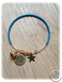 Bracelet jonc coloré par ByVibi sur Etsy, €11.00