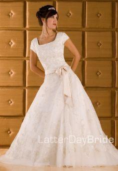 Modest Wedding Dress, Hollywood   LatterDayBride & Prom