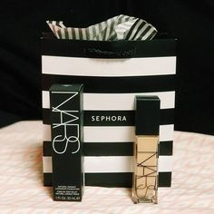 NARS released this awesome new foundation with tons of different shades for almost all skin types! This is definitely full coverage and looks so good. We love this packaging what do you guys think! Such a great start to a makeup look! Boom Boom, Beauty Essentials, Aphrodite, Beauty Routines, Nars, Sephora, Makeup Looks, Twins, Foundation