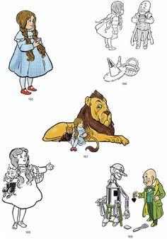 Denslow's Wizard of Oz Illustrations CD-ROM and Book Dover Oz Tattoo, Tattoos, Original Wizard Of Oz, Wizard Of Oz Quotes, Book Drawing, Dover Publications, Fairytale Art, Crayon Art, Children's Book Illustration