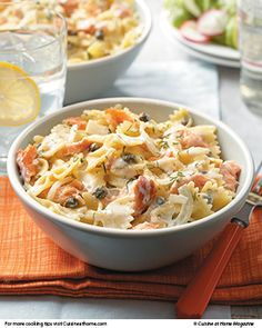 Smoked Salmon Pasta | Cuisine at home eRecipes