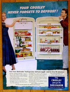 New to AnEarnestOffering on Etsy: 1951 Crosley Shelvador Refrigerator Ad - (Beer...check!) - Vintage Print Advertisement (9.99 USD)