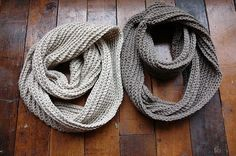 knitted circle scarf.