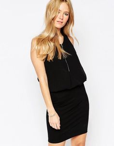 Minimum Tiana Zip Neck Dress