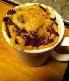 chocolate chip mug cookie. for those days where you just need an unhealthy, chocolatey, delicious dessert.