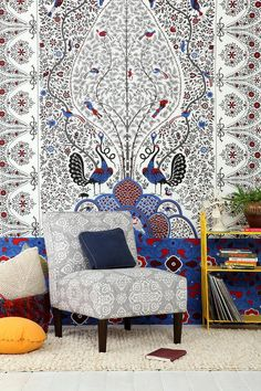 Magical Thinking Peacock Garden Tapestry #urbanoutfitters