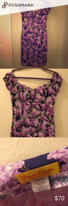 Bernie Dexter wiggle purple dress worn twice! Bernie Dexter XL purple flower wiggle dress! Bernie Dexter Dresses