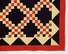 Such a traditional quilt pattern in unusual color choices. I love it. Rocky Mountain Quilts.