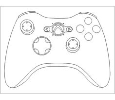 xbox controller cake template - Google Search