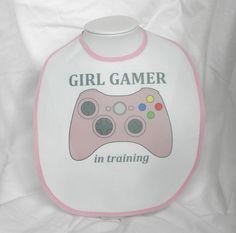 Xbox 360 GIRL GAMER in TRAINING Xbox360 Baby Bib by PlayBox, £6.50