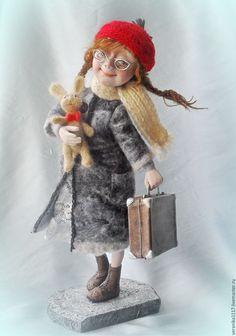 """Купить Авторская кукла """"За мечтой!.."""" - подарок на день рождения, коллекционная кукла, путешественница"""