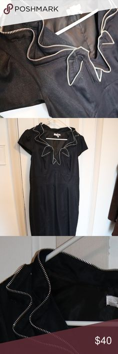 Soft Dark Denim Dress Can we say DETAILLLL ladies!!! Soft Dark Denim Dress. Selling my moms dress! I cant tell if its indigo dark denim or black denim..you be the judge!  *Ask all detailed questions before purchase. my measuring tape will be in soon from amazon...so ill be able to give yall measurements on more items!!! Dresses Midi