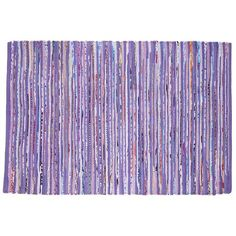 The Land of Nod | Kids' Rugs: Kids Purple Recycled Cotton Rug in Patterned Rugs 4x6 $96.00