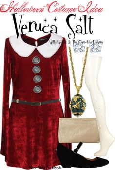 Inspired by character Veruca Salt played by Julie Dawn Cole in the 1971 musical adaptation of Willy Wonka and the Chocolate Factory. Veruca Salt Costume, Cosplay Costumes, Halloween Costumes, Halloween 2018, Halloween Ideas, Willy Wonka Costume, Wonka Chocolate Factory, Fancy Dress, Style Inspiration