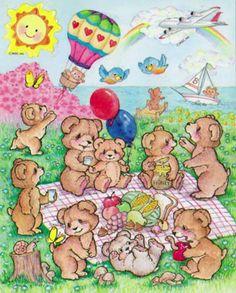 AGC sticker sheet - teddy bear picnic by the ocean