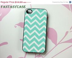 SALE Mint Chevron - iPhone 4 Case , iPhone 4s Case , iPhone 5 Case , Galaxy S3 , Galaxy S4 , Galaxy Note 2 , Plastic iPhone Case