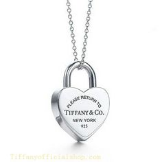 Return to Tiffany Outlet Collection Heart Lock Pendant