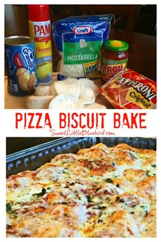 Today& recipe is quick and easy, absolutely delicious Pizza Biscuit Bake! This fun dish is ready from start to finish in about 35 minutes with only a 10 minute prep Even - pizza Pizza Recipes, Gourmet Recipes, New Recipes, Cooking Recipes, Favorite Recipes, Cooking Ideas, Pepperoni Recipes, Food Ideas, Quick Recipes