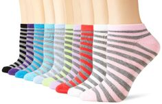 $10.00 Modern Heritage Women's 10 Pair Pack Striped Low Cut Socks, Grey/Pastel,Size 9-11 Modern Heritage,http://www.amazon.com/dp/B00F0N86DA/ref=cm_sw_r_pi_dp_Rl06sb00WNTTKQT8