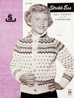 The Nordkapp kofte cardigan for children – Norwegian Knit S Girls, Knitting Patterns, Sweater Patterns, Color Combinations, The Past, Men Sweater, Shirt Dress, Barn, Retro