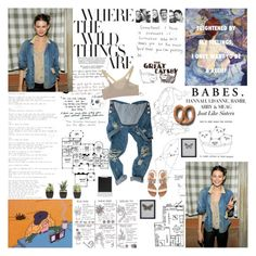 """""""miley, what's good ?"""" by spacelava ❤ liked on Polyvore featuring Prada, Victoria's Secret, Zara, VPL, Polaroid, DAY Birger et Mikkelsen, sandals, winning, overalls and bralet"""