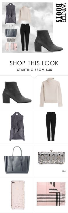 """""""Winter Boots for the cold winter days"""" by hannahjanexo ❤ liked on Polyvore featuring Stuart Weitzman, Vanessa Seward, Velvet by Graham & Spencer, Topshop, Lanvin, Kate Spade and Burberry"""
