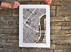 papercut map of new orleans by karen m. o'leary