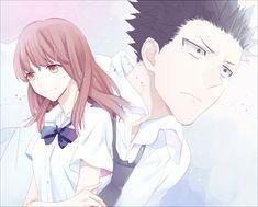 / Koe no Katachi // A Silent Voice // Shouko Nishimiya // Shouya Ishida Awesome Anime, Anime Love, Anime Manga, Anime Art, A Silent Voice Anime, Brown Eyes Black Hair, Death Parade, Manga Collection, Nisekoi