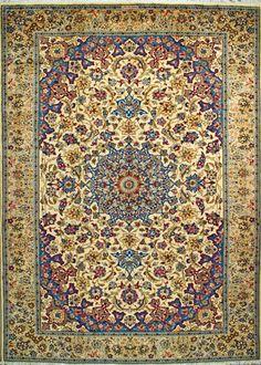 """Esfahan Persian Rug, Buy Handmade Esfahan Persian Rug 9' 4"""" x 13' 1"""", Authentic Persian Rug $3,646.50"""