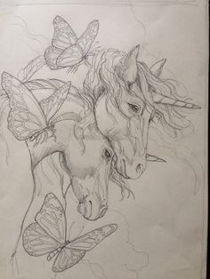 Jody Bergsma Unicorn Painting Pencil Base