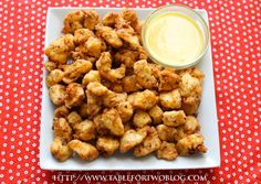 I made these once and didn't pin the recipe.  I'm not making that mistake again! These are soooo yummy!  Chick-fil-A Chicken Nuggets & Honey Mustard Sauce.  UPDATE: Oh  my gosh!  The chicken was amazing, and the sauce was incredible.  This recipe is definitely a keeper!  A big hit with Stephen!
