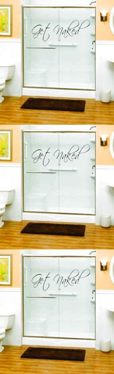 Removable Decal Art Mural Home BathRoom Decor Quote Wall Sticker word Get Naked $10.56