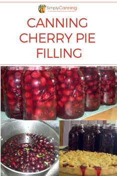 Cherry pie filling: Canning it saves time later for cobblers and pies! Cherry pie filling: Canning it saves time later for cobblers and pies! Home Canning Recipes, Canning Tips, Jam Recipes, Fruit Recipes, Cooker Recipes, Cherry Recipes For Canning, Sweet Cherry Recipes, Pressure Canning Recipes, Cherry Desserts