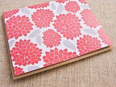 red and grey botanical notecard