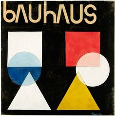 Herbert Bayer, Ohne Titel (poster design for the Bauhaus), gouache over graphite on cardboard. Herbert Bayer created a number of poster designs for the Bauhaus in his time as a teacher at the school for advertising, design, and typography. Herbert Bayer, Bauhaus Textiles, Bauhaus Art, Bauhaus Design, Bauhaus Colors, Circle Square Triangle, Futurism Art, Composition Art, Visual Aesthetics