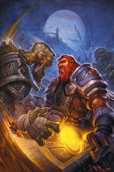 Dwarf vs Forsaken, from the cover of Ashbringer: http://www.amazon.com/gp/product/1401223419/ref=as_li_ss_tl?ie=UTF8=gnmgames=as2=1789=390957=1401223419